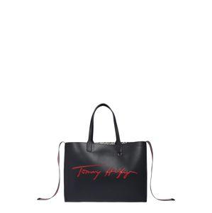 TOMMY HILFIGER Nákupní taška 'ICONIC'  tmavě modrá / bílá / červená