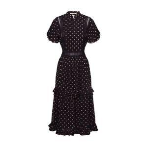 SCOTCH & SODA Šaty 'Party dress with ruffles and lace panels'  černá