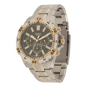 FOSSIL Analogové hodinky  zlatě žlutá / stříbrná