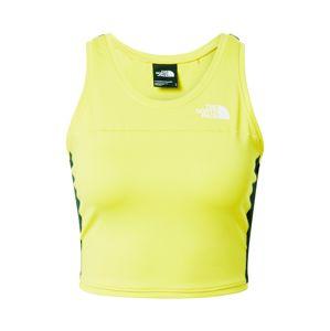 THE NORTH FACE Sportovní top  svítivě žlutá / černá