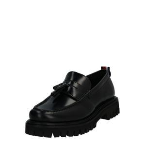 TOMMY HILFIGER Šněrovací boty 'CHUNKY DRESS LOAFER'  černá