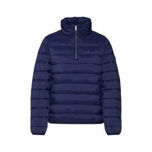Tommy Jeans Zimní bunda 'TJW Basic Quilted Uilted Hooded Popover'  námořnická modř / červená / bílá