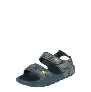 Champion Authentic Athletic Apparel Otevřená obuv 'SQUIRT B PS'  khaki / černá / chladná modrá