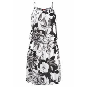 BUFFALO Plážové šaty  černá / bílá