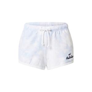 HOLLISTER Kalhoty  světlemodrá / světle fialová / bílá / černá