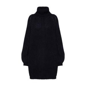 IVYREVEL Úpletové šaty  černá