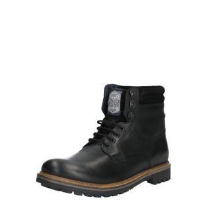 base London Šněrovací boty 'HIDE'  černá