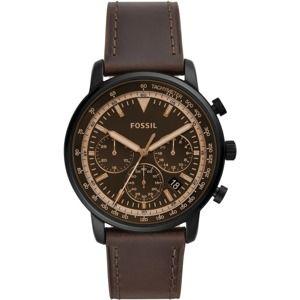 FOSSIL Analogové hodinky 'Goodwin Chrono FS5529'  čokoládová / zlatá