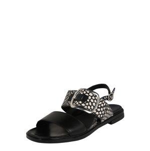 MJUS Páskové sandály 'GRAM'  bílá / černá