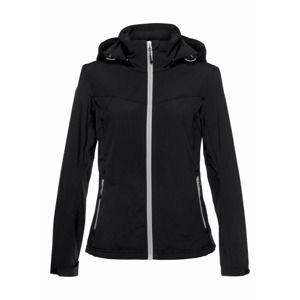 ICEPEAK Outdoorová bunda  černá / bílá