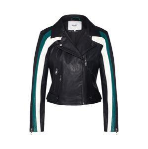 ONLY Přechodná bunda 'Solei'  petrolejová / černá / bílá