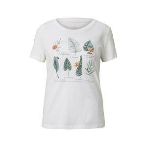 TOM TAILOR Tričko  oranžová / bílá / zelená