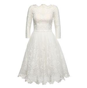 Chi Chi London Koktejlové šaty 'FLORA DRESS'  bílá