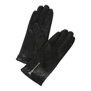 VERO MODA Prstové rukavice 'FINNA LEATHER GLOVES BOOS'  černá