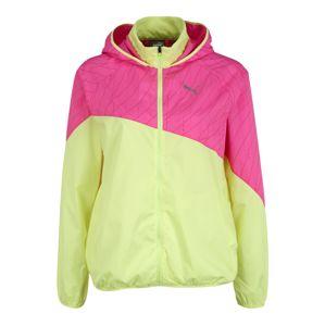 PUMA Sportovní bunda  svítivě růžová / svítivě žlutá