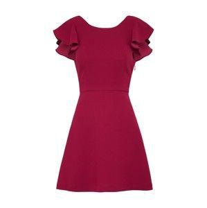 BCBGeneration Koktejlové šaty 'Ruffle'  tmavě červená