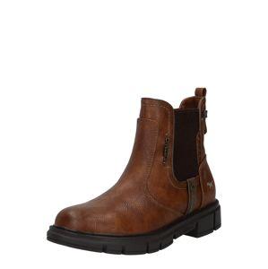 MUSTANG Chelsea boty  kaštanově hnědá