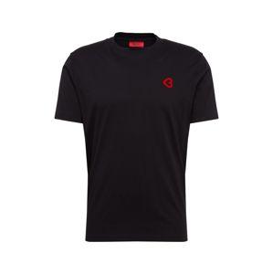 HUGO Tričko 'Dangels'  černá