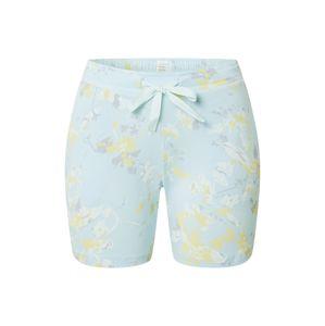 SCHIESSER Pyžamové kalhoty  světlemodrá / žlutá