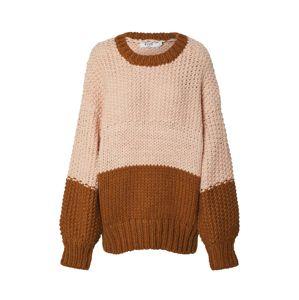 NA-KD Svetr 'two coloured heavy knitted sweater'  růžová