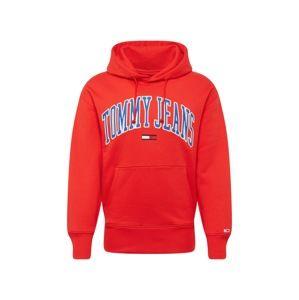 Tommy Jeans Mikina  modrá / červená / bílá