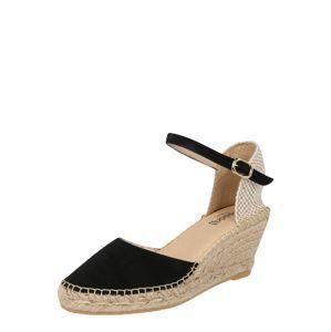 Espadrij L´originale Páskové sandály 'Biarritz Velour'  černá