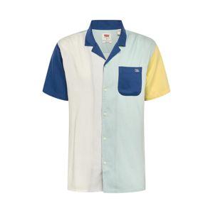 LEVI'S Košile 'Cubanos'  pastelově zelená / tmavě modrá / offwhite