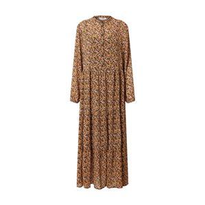 MOSS COPENHAGEN Šaty 'Martha Rikkelie'  hnědá / růžová / černá