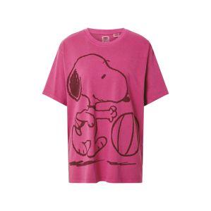 LEVI'S Tričko 'GRAPHIC RLXED OVERSZE'  tmavě růžová