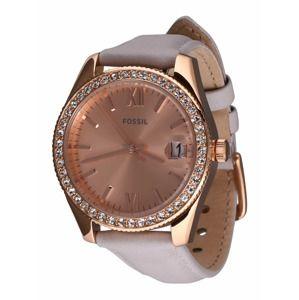 FOSSIL Analogové hodinky  růžově zlatá / šedá