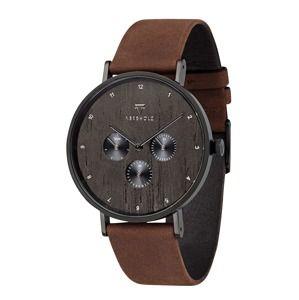 Kerbholz Analogové hodinky 'Caspar'  hnědá