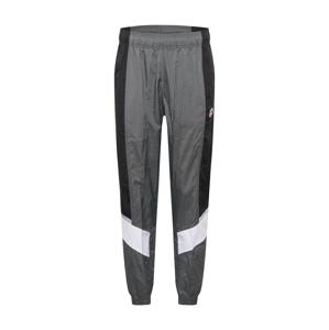 Nike Sportswear Kalhoty 'Heritage Windrunner'  černá / tmavě šedá / bílá