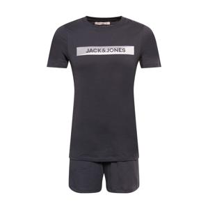 JACK & JONES Domácí oblečení  černá / bílá