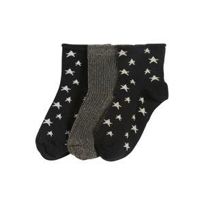 Pinned By K Ponožky  černá / zlatá