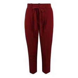 New Look Curves Kalhoty se sklady v pase 'MILLER '  burgundská červeň