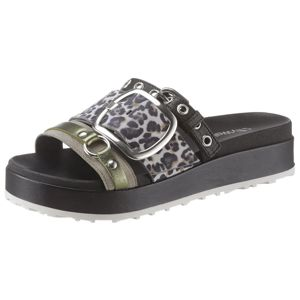 MJUS Pantofle  černá / béžová / zelená