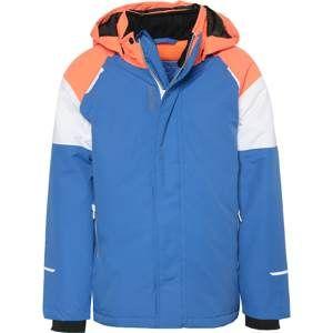 NAME IT Funkční bunda 'Nkmsnow03'  královská modrá / oranžová / bílá
