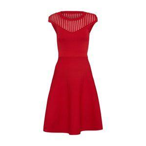 FRENCH CONNECTION Koktejlové šaty 'Rose Crepe Knit'  ohnivá červená
