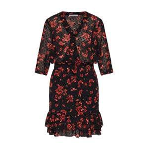 Freebird Letní šaty  korálová / černá