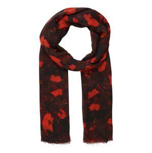 InWear Šála 'Mila'  oranžová / černá / červená / krvavě červená