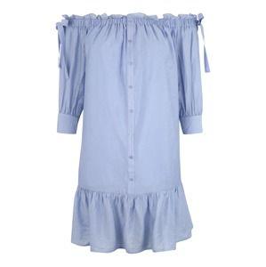 Lost Ink Plus Košilové šaty  světlemodrá