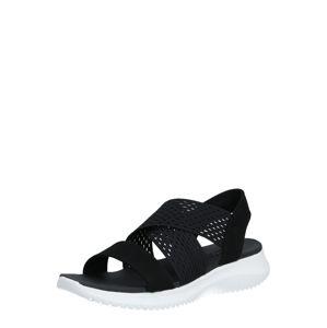 SKECHERS Páskové sandály  černá