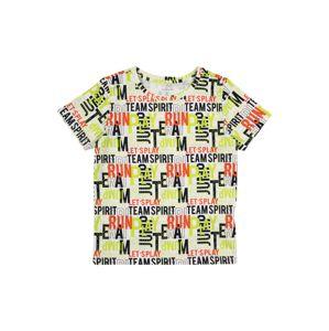 NAME IT Tričko  bílá / svítivě žlutá / oranžová / černá