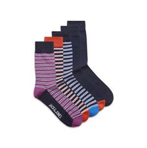 JACK & JONES Ponožky  fialová / mix barev / černá