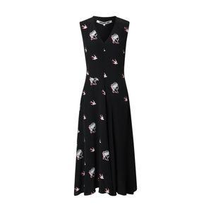 McQ Alexander McQueen Šaty 'Hakama'  černá / bílá / pink