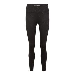 DKNY Sport Sportovní kalhoty 'HIGH WAIST 7/8 TIGHT W/ VELVET TAPING'  šedá