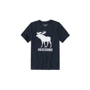 Abercrombie & Fitch Tričko 'JAN TECH LOGO 5CC'  námořnická modř / bílá