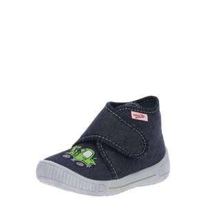 SUPERFIT Pantofle 'BULLY'  modrá džínovina / zelená