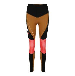 NIKE Sportovní kalhoty  hnědá / korálová / černá