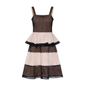 MICHALSKY FOR ABOUT YOU Koktejlové šaty 'Alisa'  černá / bílá